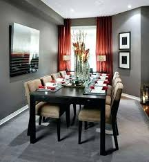 Red And Grey Living Room Curtains In Dining With Walls White