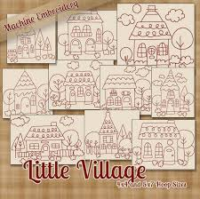 Redwork Little Village Machine Embroidery Patterns / Designs - 4x4 ... Free Decorative Machine Embroidery Design Pattern Daily Anandas Divine Designs Pinterest The Best For Your Beautiful Products Swak Daisy Kitchen Set Thrghout Cozy And Chic Towels Vintage Sketch Style Kentucky Home Spring Cushion 5x7 6x10 7x12 And 8x8 In The Hoop Machine Downloads Digitizing Services From Cute Letters Marokacom Amazoncom Brother Pe540d 4x4 With 70 Builtin