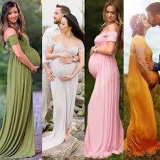 Pregnant Women Bandeau Long Gown Maternity Photography Props Fancy