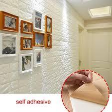 ziegel tapete 3d selbstklebend steintapete weiß wandpaneele wohnzimmer wasserfest deko wandaufkleber design schaumstoff steinoptik wandverkleidung für