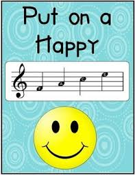 Put On A Happy Face Poster With The Music Notes F Classroom PostersBoard IdeasWall