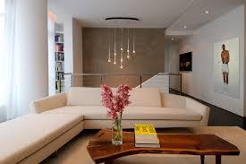 sonneman lighting in living room modern with corian shower walls