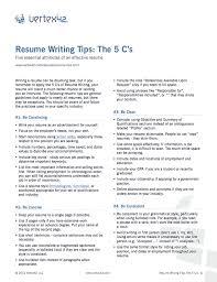 Free Resume Writing Tips