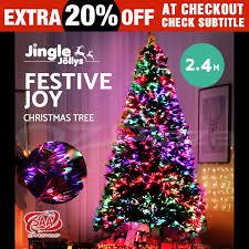 8ft Christmas Tree Ebay by 2 4m 8ft Led Christmas Tree Xmas Tree Multi Colour Lights Optic