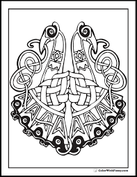 ColorWithFuzzy Celtic Coloring Pages Peacock Art Picture
