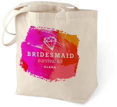 Bridesmaid Survival Kit Cotton Tote Bag