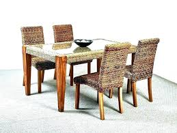 Wicker Couch Indoor Dining Chairs Rattan Sets Room