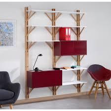 bibliothèque avec bureau intégré bibliothèque avec bureau intégré beige de la marque cosy korner à