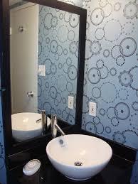 Blue And Brown Bathroom Decor by Bathroom Wallpaper Ideas Brown Sutton Suzuki Architects Chic