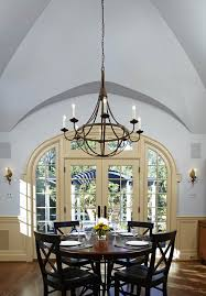 light grey walls white trim dining room traditional with gray