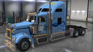 100 Sherman Bros Trucking UNCLE D LOGISTICS WERNER TRUCKING KENWORTH W900 SKIN MOD ATS Mod