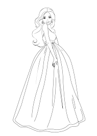 Elegant Barbie Coloring Pages 48 In For Kids Online With