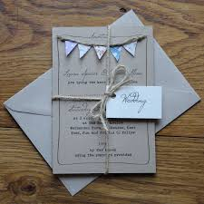 Handmade Bunting Wedding Invitations