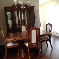 Solid Oak Dining Chairs Uk Wood Table 6 Used Set With Lighted China ...