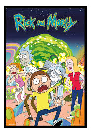 Framed Rick And Morty Group Poster New
