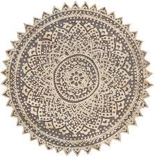 orientalische holz ornament wanddeko elisam schwarz 45cm