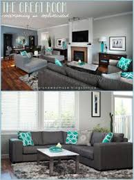 Grey And Turquoise Living Room by A Runaway Muse Project Spotlight Character Home Up Do Grey