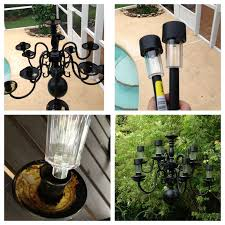 chandelier painted black 97 cent solar light from walmart