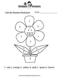 Easy Color By Number Worksheet