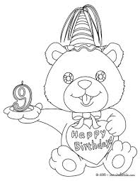 Birthday candle 9 years Birthday candle 9 years coloring page
