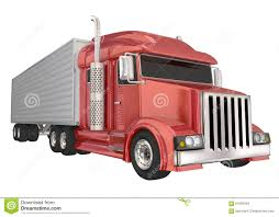 Red Semi Truck 18 Wheeler Big Rig Hauler Stock Illustration ...