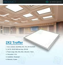 ul dlc approved 50w 0 10v dimming recessed 2x2 led drop ceiling