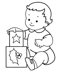 Baby Christmas Coloring Pages