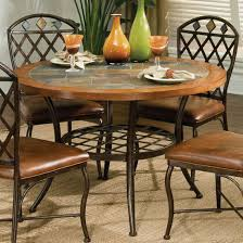 casual slate tile top dining tables dining table design ideas