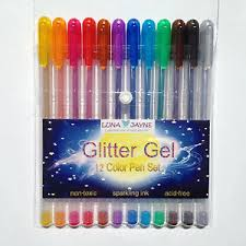 Image Is Loading Luna Jayne 12 Color Glitter Gel Pen Set