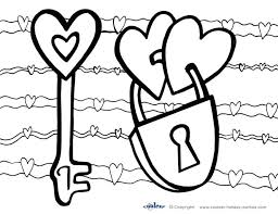 Coloring Pages Valentines Day Book Printable Color To Print Hearts Free Cards Large Size