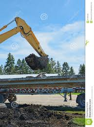 100 Belly Dump Truck Hoe And 5 Stock Photo Image Of Belly Dirt 41220128