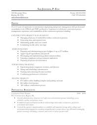 Project Management Resume Samples Technical Manager