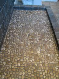 gray mosaic tile for shower floor tile flooring design