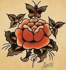 Sailor Jerry Rose Tattoo Flash