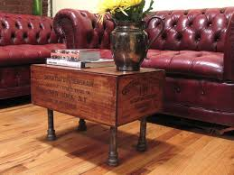 6 Vintage Style Wine Crate Coffee Table