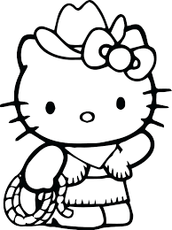 Coloring Pictures Kitty Hello Page Pages Princess Sheets Christmas Full Size