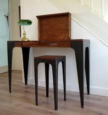 bureau console bois console de bureau gazelle en bois massif et tôle brute africouleur