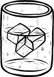 Glass Wet Black And White Art Clip Art Vector & Illustrations
