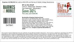 Barnes & Noble 30% Off Elf On The Shelf Coupon (Pay $20.96 ... Buybaby Does 20 Coupon Work On Sale Items Benny Gold Patio Restaurant Bolingbrook Code Coupon For Shop Party City Online Printable Coupons Ulta Cologne Soft N Dri Solstice Can You Use Teacher Discount Barnes And Noble These Are The Best Deals Amazon End Of Year Get My Cbt Promo Grocery Stores Orange County Ca Red Canoe Brands Pier 1 Email Barnes Noble Code 15 Off Purchase For 25 One Item