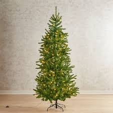 Slim Pre Lit Christmas Trees 7ft by Pre Lit Artificial Christmas Trees Pier 1 Imports