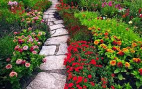 Remarkable Colourful Rectangle Rustic Stone Flowers Garden Decorative Floor And Mixed Plats