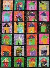 This Is A Classroom Art Project Maros Kindergarten Snowy Winter Houses
