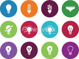 light bulb and cfl l circle icons vector thinkstock