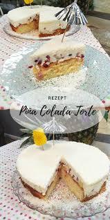 pina colada torte mit granatapfel geheimnis