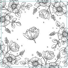 Free Printable Vintage Floral Coloring Pages To Print Also Download Home Grown Ups