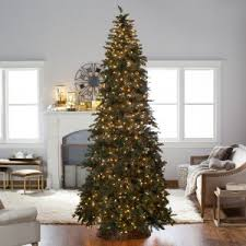 Classic Pine Clear Pre Lit Slim Christmas Tree