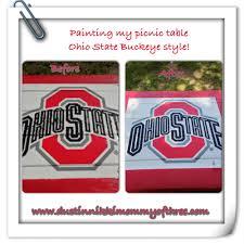 Ohio State Pumpkin Stencils Free by Do It Yourself U2013 Ohio State Buckeye Picnic Table Diy Buckeyes