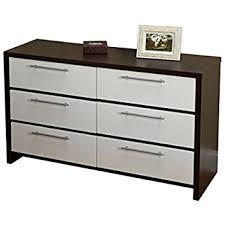 amazon com nexera 223633 4 drawer chest ebony and white kitchen