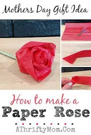 How To Make A Paper Rose Perfect DIY Craft For Kids Mothers Day Flowers That Can Be Made As Project MothersDay Crafts