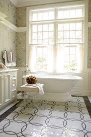 Small Bathroom Window Curtains by Bathroom Window Curtains Bathroom Traditional With Brown Walls